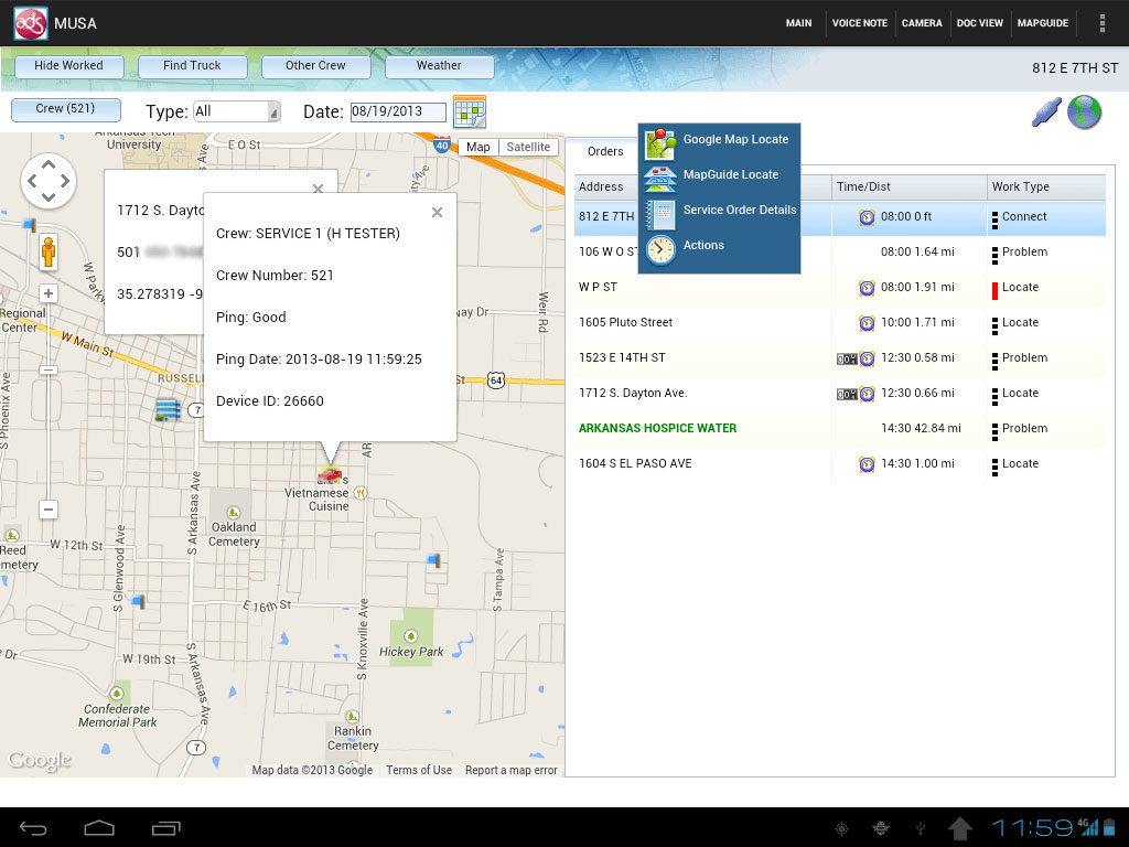 Integrated Google Maps Water Utility Billing Software